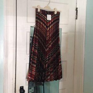 BNWT Zara Pleated metallic midi skirt